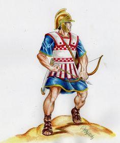 A cretan these toxotai. Archer clipart greek archer