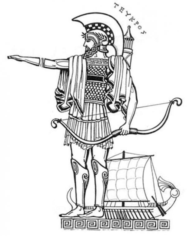 The tale of teucer. Archer clipart greek archer