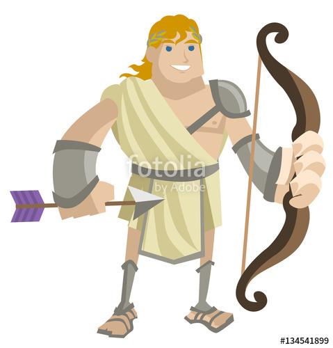 Archer clipart greek archer. Roman trojan with bow