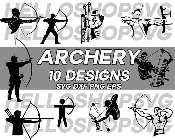 Archer clipart hunter. Svg archery decal stencil