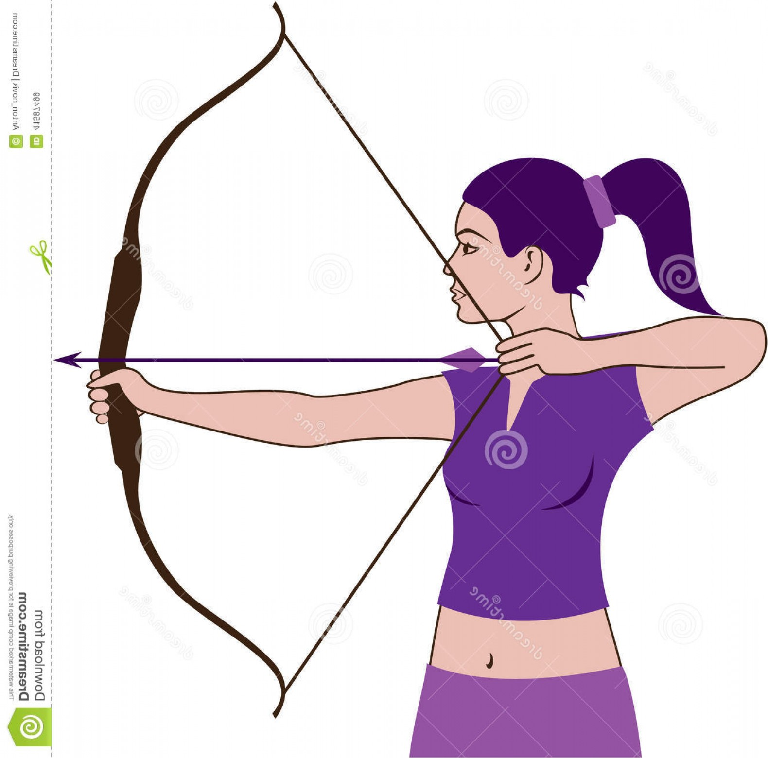 Woman silhouette at getdrawings. Archer clipart hunter