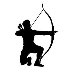 Bow silhouette prints information. Archer clipart hunter