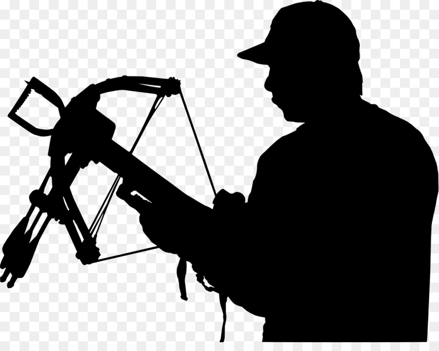 Archer clipart hunter. Crossbow hunting silhouette clip