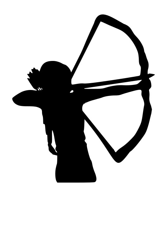 Archer clipart hunter. Woman silhouette at getdrawings