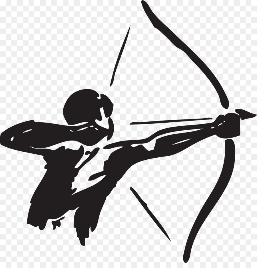 Archer clipart hunter. Archery bow and arrow