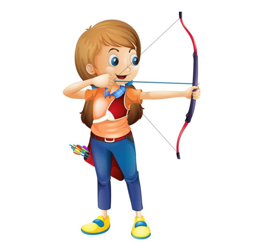 Archer clipart kid. Buy young lady playing