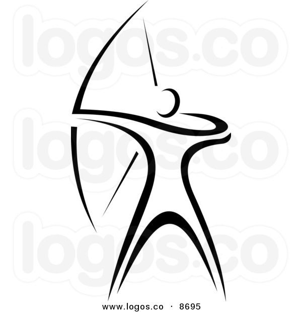 Royalty free vector of. Archer clipart logo