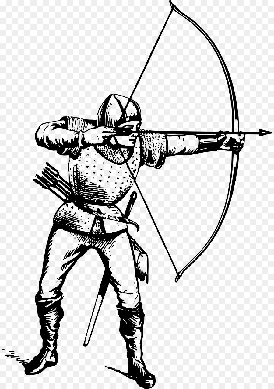 Line art arrow archery. Archer clipart logo