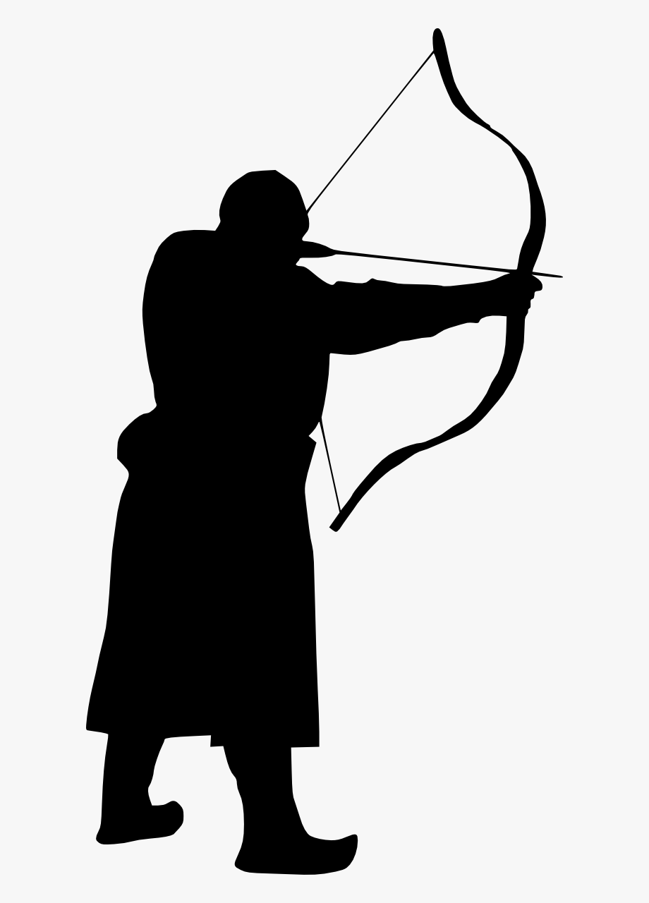 Silhouette png free cliparts. Archery clipart gambar