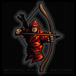 Mascot graphic vector archery. Archer clipart medieval archer