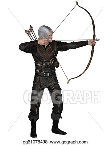 Archery clipart medieval archery. Stock illustration old or