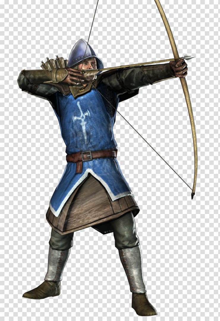 Squire using bow digital. Archery clipart medieval archery