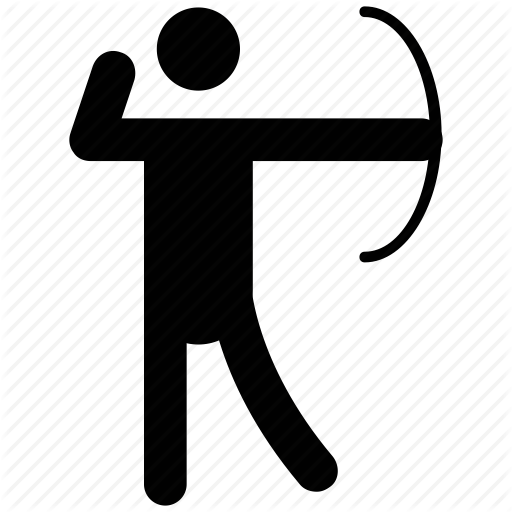 Archer clipart olympic archery. Iconfinder human by vectors
