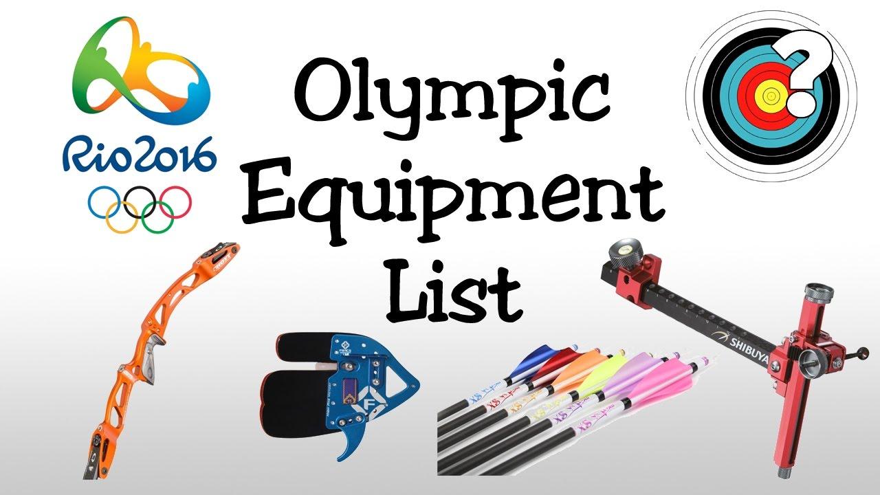 Rio olympics equipment list. Archery clipart olympic archery