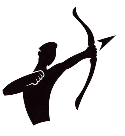 Bow arrow logo icon. Archer clipart olympic archery