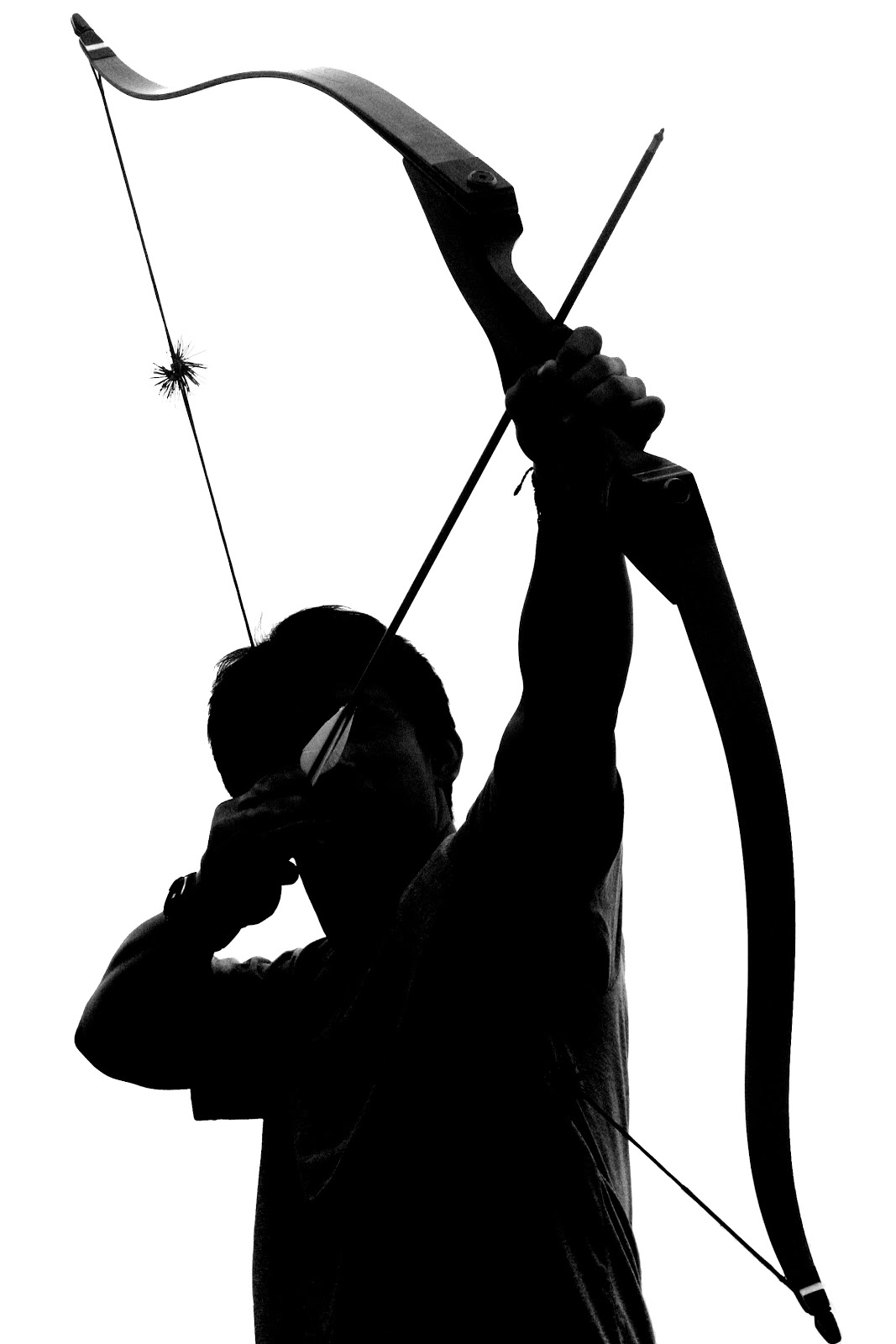 Hunter clipart bow arrow. Recurve silhouette at getdrawings