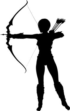 Archery clipart recurve bow. Silhouette at getdrawings com