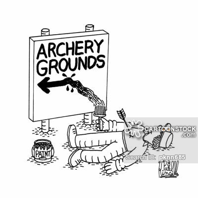 Cartoons and comics funny. Archer clipart shooting range