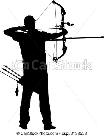 Target silhouette at getdrawings. Archer clipart shooting range