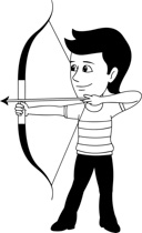 Archery clipart boy. Search results for archer