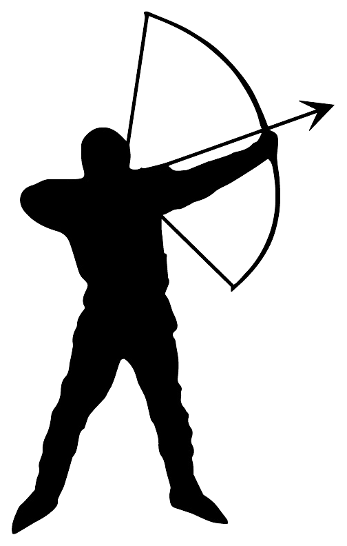 Clipart woman archery. Archer silhouette at getdrawings