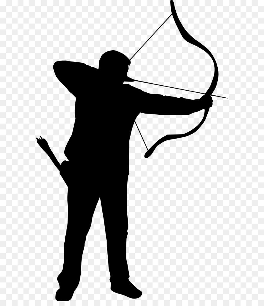 Archery clipart archer. Silhouette clip art png