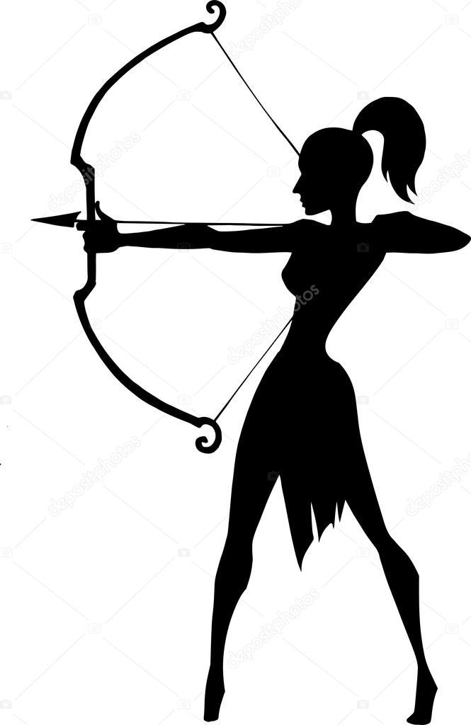 archery clipart female archer