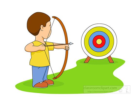 Archery clipart. With bullseye target classroom