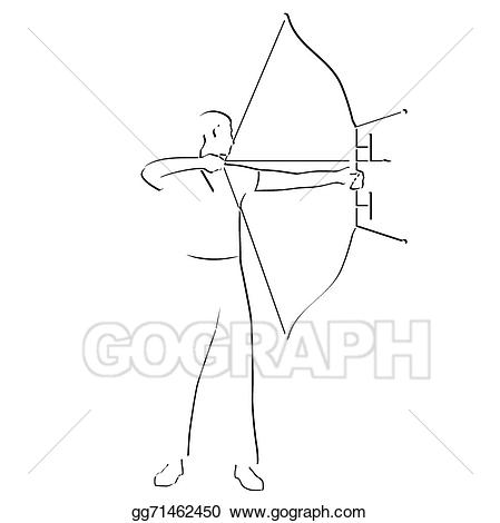 Archery clipart abstract. Eps illustration vector gg