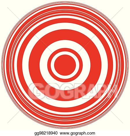 Vector stock concentric circles. Archery clipart abstract