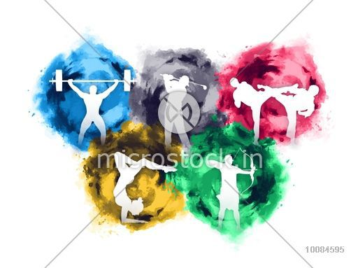 Archery clipart abstract. Set of different games