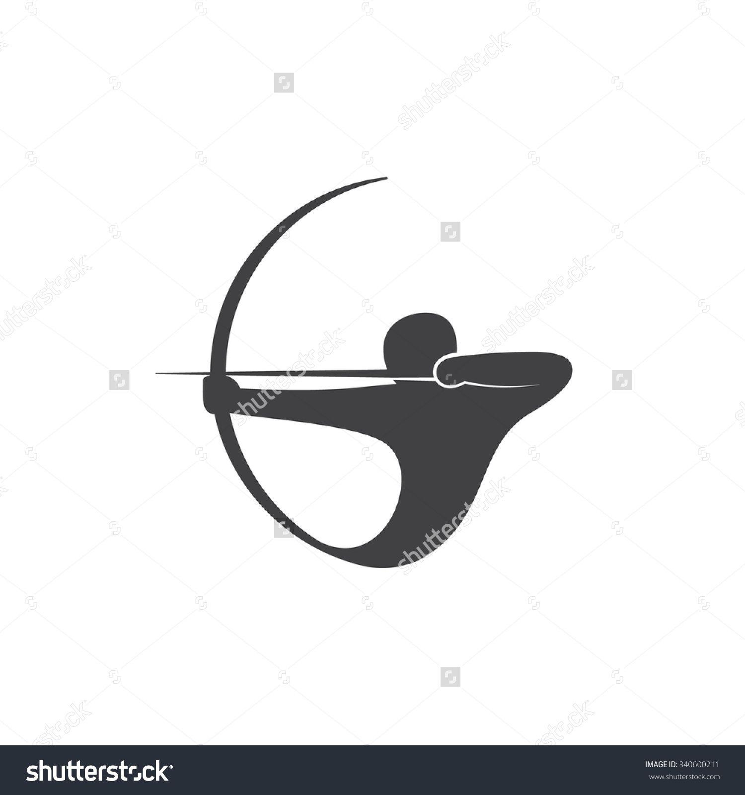 Archery clipart abstract. Archer stock vectors vector