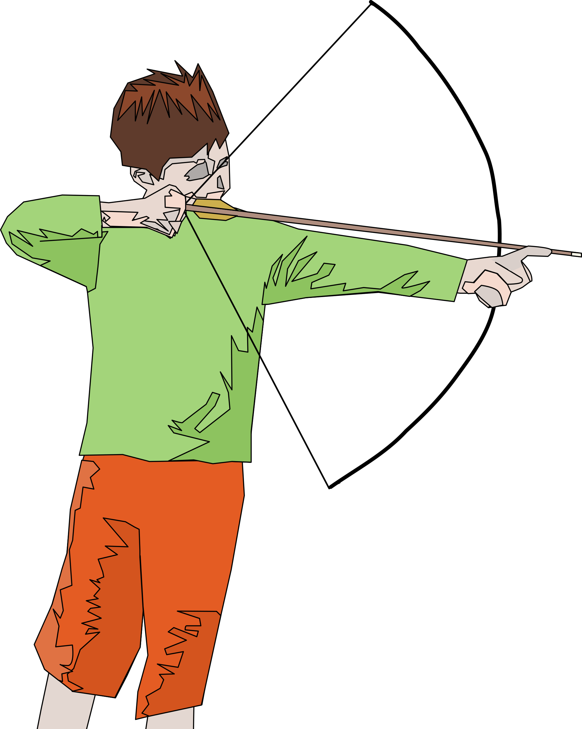 Archery clipart abstract. Archer big image png