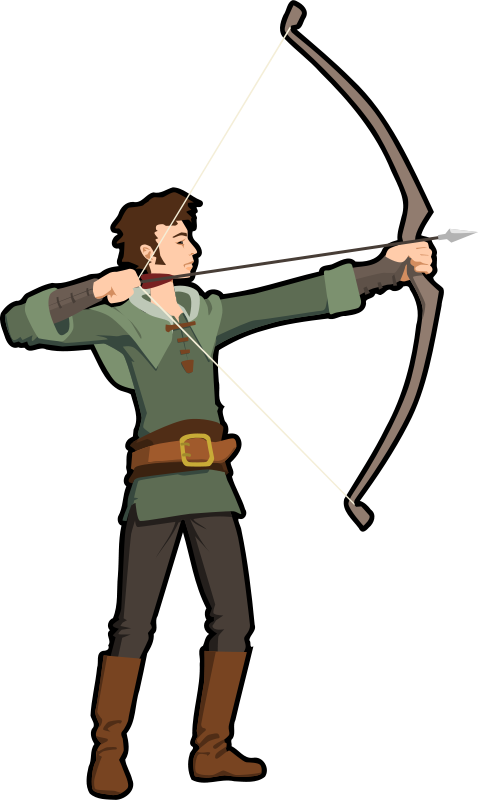 Crossbow vs compound bow. Hunting clipart family