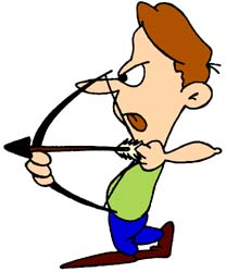 Archery clipart animated. Bow and arrow free