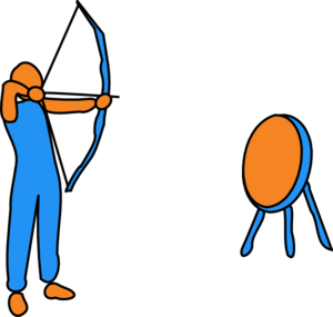 Bow and arrow images. Archery clipart animated