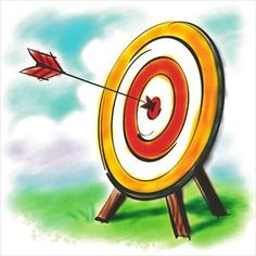 Bullseye clipart archery. Cliparts stock vector and