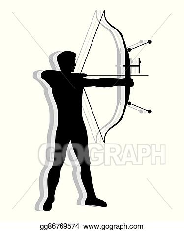 Vector stock competitive man. Archery clipart archery competition