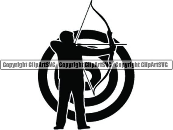Archery clipart archery competition. Logo sports game arrow