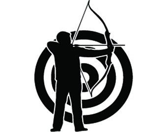 Target art etsy logo. Archery clipart archery range