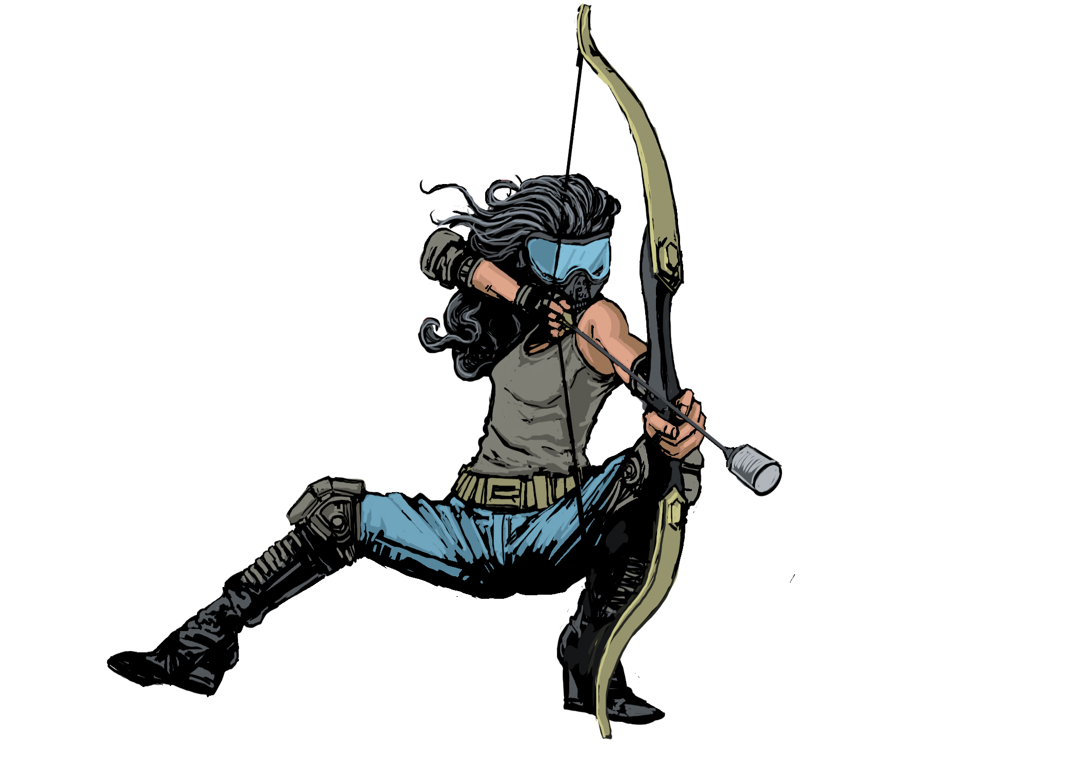 Archery clipart archery tag. How to play warrior