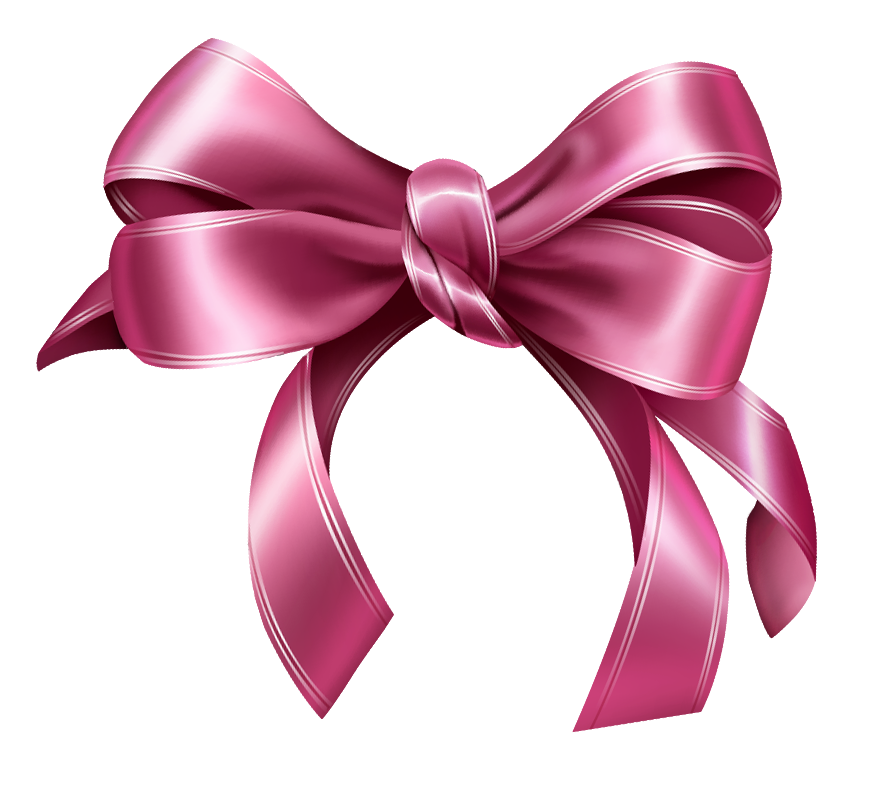 Pink bow png picture. Bows clipart transparent background