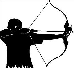 Cilpart nonsensical free . Archery clipart black and white