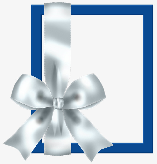 Bows clipart border. Blue bow frame png