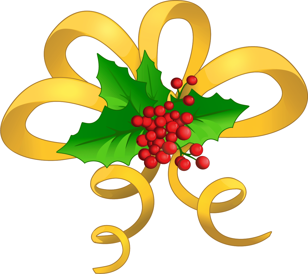 Christmas yellow bow with. Archery clipart border