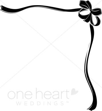 Black ribbon bow borders. Boarder clipart border design