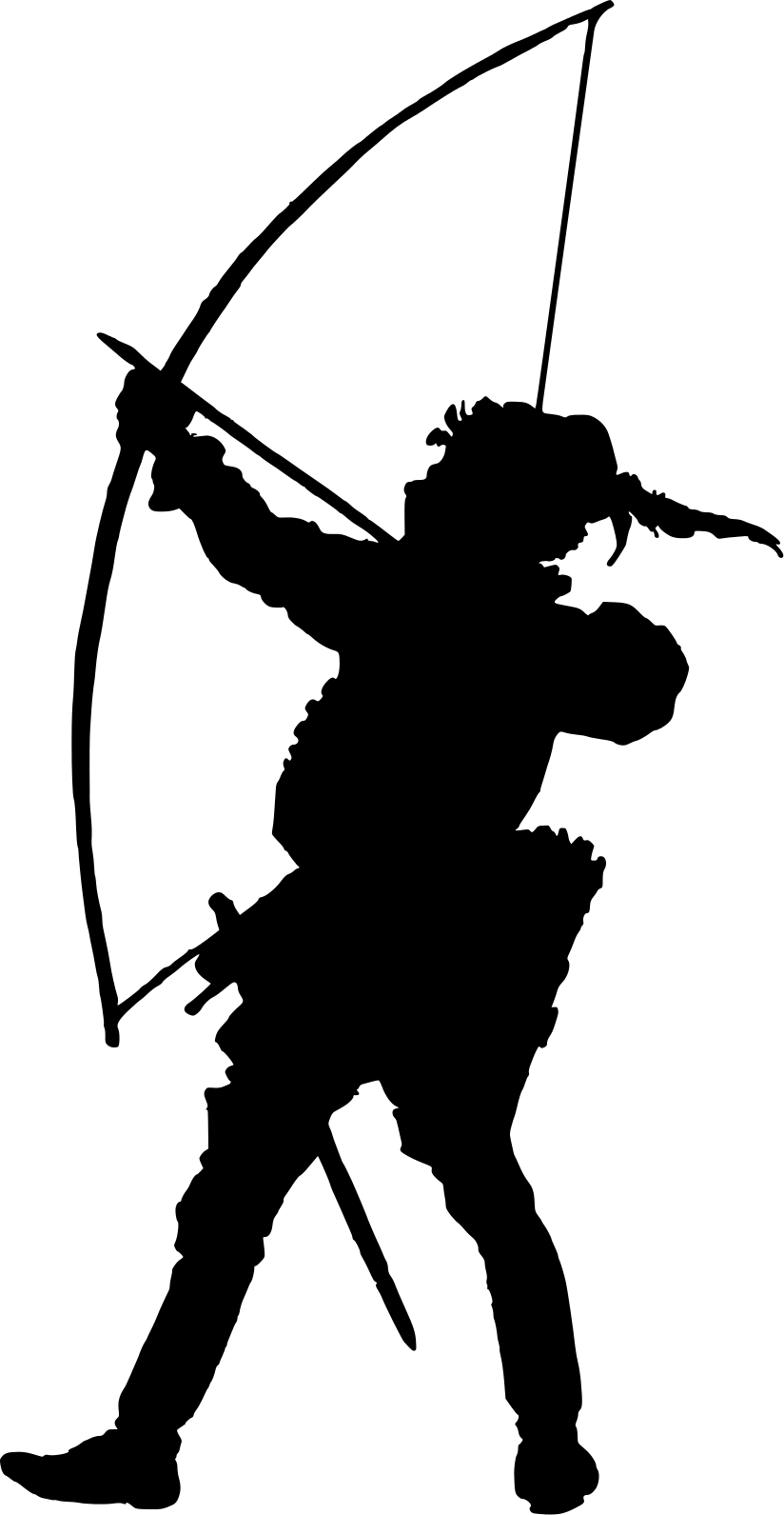 Archery silhouette at getdrawings. Archer clipart bowman