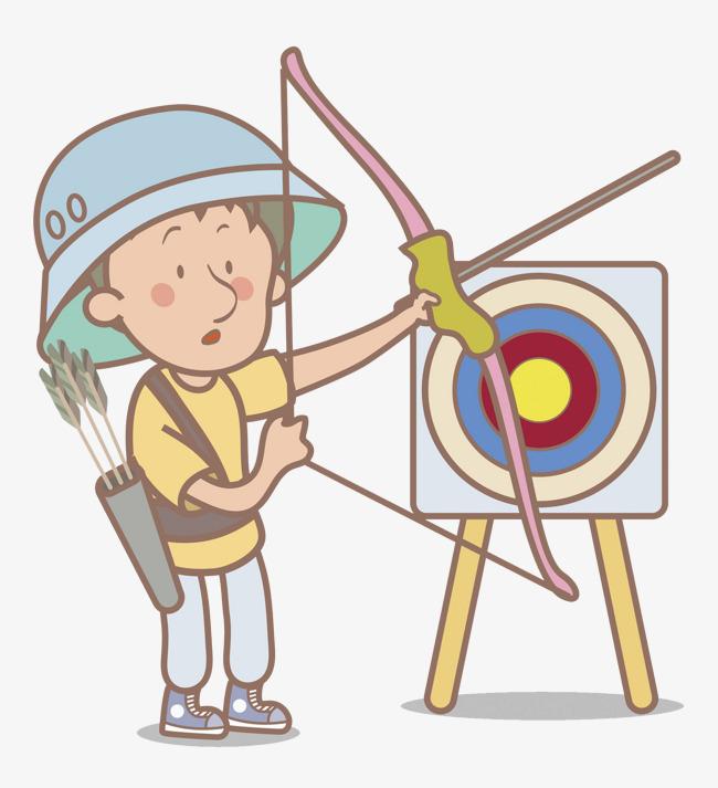 Archery clipart boy. Cartoon hand target png