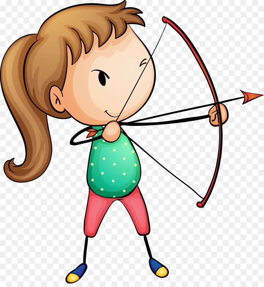 Archery clipart boy. Stock photography royalty free