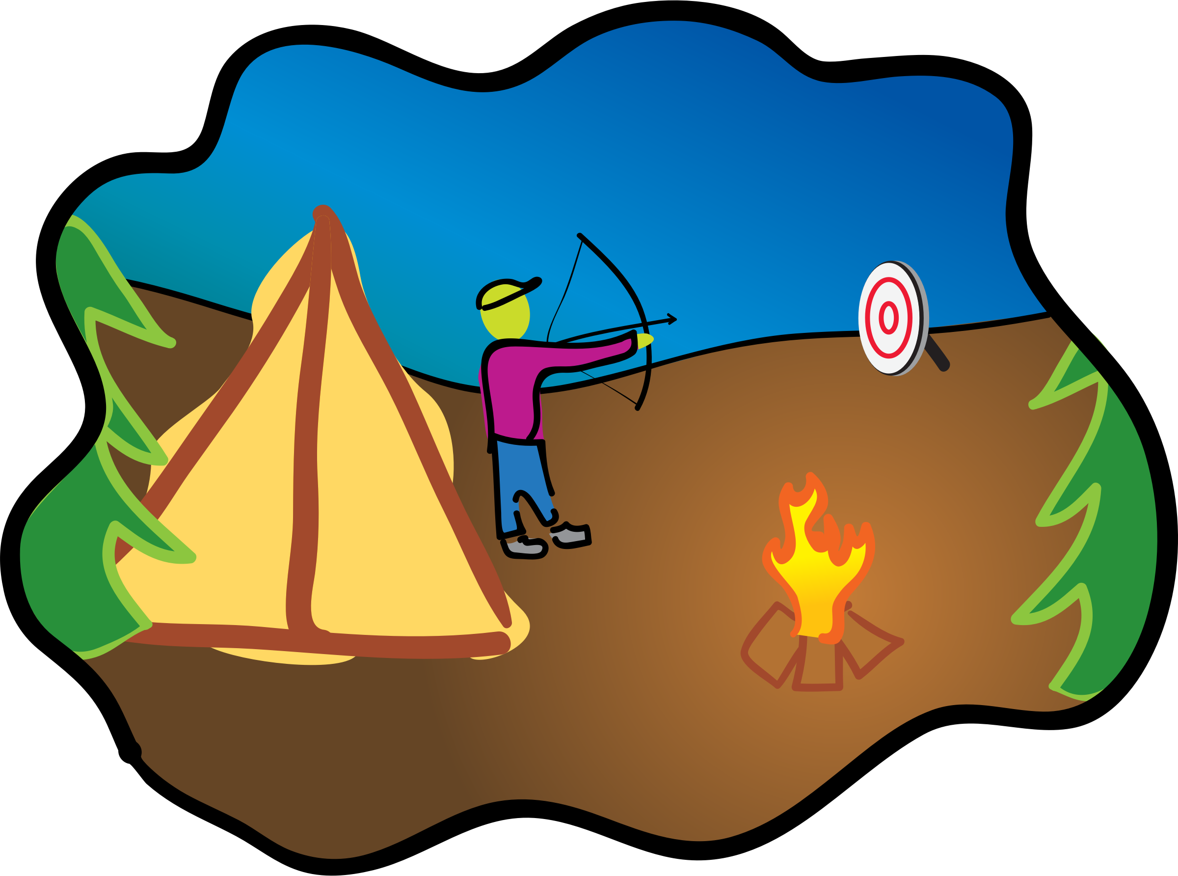 Happy camping archery big. Up clipart dug